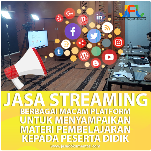 Jasa Streaming untuk Live Learning, Belajar dan Mengajar secara Online melalui Zoom Meeting, Youtube, Instagram, Facebook dan Web. Penyedia Live Streaming